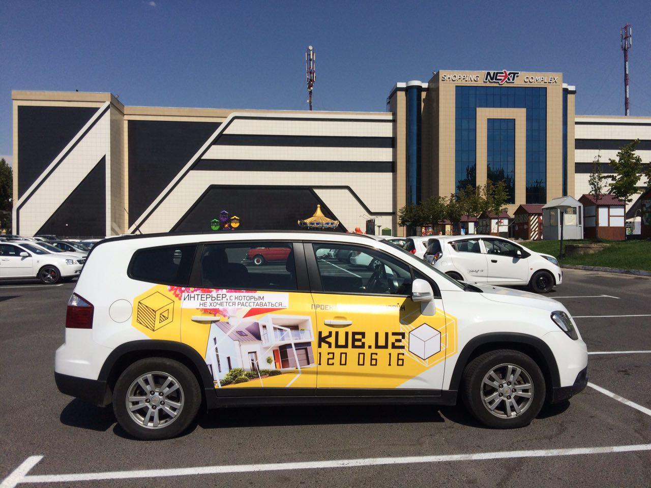 реклама на автомобилях в Ташкенте